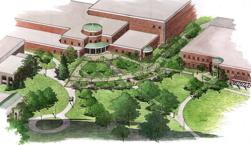 Architectural renderings for Davies landscape architects